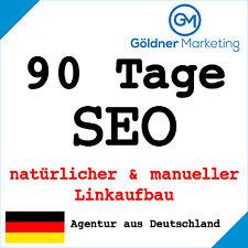 ★ 90 Tage Suchmaschinenoptimierung manueller Linkaufbau Backlinks Website SEO ★