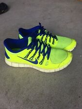 3aadd1907fc05 Nike Free 5.0 Running Shoes Mens Size 10.5 Athletic Yellow Blue