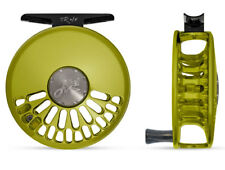 Abel TR 4/5 Fly Reel ( 4-5 WT Cick Pawl )  - Lime Green with Ebony Wood Handle