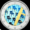 2 Euro Finnland 2014 100 Geburtstag Tapiovaaras - coloriert