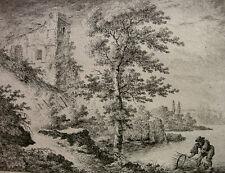 DANIEL DÜRINGER `UFERLANDSCHAFT, FISCHER MIT REUSE´ J. G. HERTEL, AUGSBURG ~1770