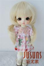 """1/8 BJD Wig 5-6"""" Twin Pigtails Doll Wig Lati Yellow Heat Resistance BJD Wigs"""