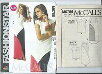 M 6755 sewing pattern Fashion*Star TOP Chic SKIRT sew sizes 12-14-16-18-20 UNCUT