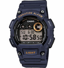Casio Men's Digital Blue Resin Band, 100 Meter WR, Vibration Alarm, W735H-2AV