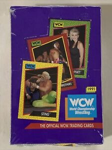 1991 Impel💥 WCW💥 World Championship Wrestling Factory Sealed Hobby Box 36 Pack