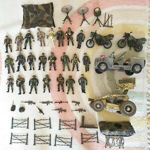 Gi Joe Chap Mei Lanard Toys Military Army Action Figures + Vehicles bundle lot
