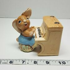 Pendelfin Figurine Rabbit with Piano Thumper Stone Craft England