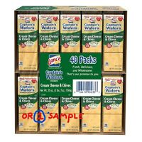 Lance Captain's Wafers Cream Cheese and Chives (40 pk.) or (1) Single Pack *NEW*
