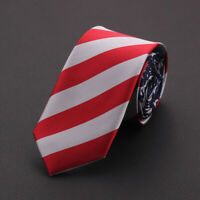 Party Prom Decoration Narrow Arrow Casual Ties American Flag Print Neck Tie