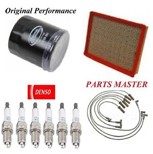 Tune Up Kit Air Oil Filters Spark Plugs Wire For PONTIAC GRAND PRIX V6;3.8L 2005