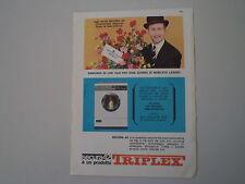advertising Pubblicità 1964 LAVATRICE TRIPLEX SECURA 42