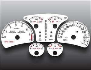 2000-2005 Pontiac Bonneville SSEi GXP Non-Boost Dash Cluster White Face Gauges