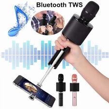 Wireless Bluetooth TWS Karaoke Microphone Speaker Handheld Mic with Two Speakers