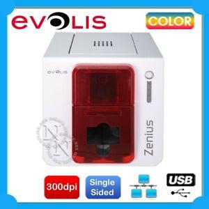Evolis Zenius Expert USB Network Single Sided Color ID Card Printer+Starter Pack