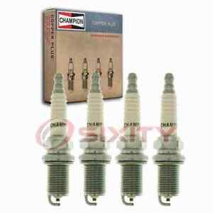 4 pc Champion Copper Plus Spark Plugs for 1991-1999 Nissan Sentra 2.0L L4 kp