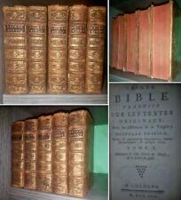 SACRA BIBBIA 1753 LEGATURA FRANCESE  SETTECENTINA.