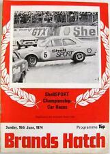Brands Hatch Shell Sport UFFICIALE MOTOR RACING programma 16 GIU 1974