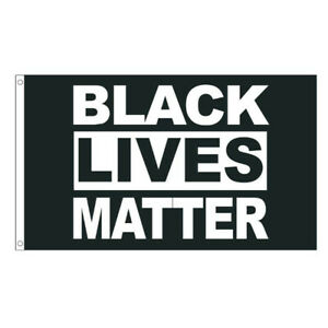 Black Lives Matter Polyester Flag BLM Peace Protest Outdoor Banner Pennant