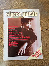 Sheet Music Magazine 1986 Back Issues Lot of 4 Piano Guitar Tablature Vintage