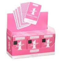 Waddingtons No.1 Classic Pink Playing Cards Casino Poker Game - Linen Finish