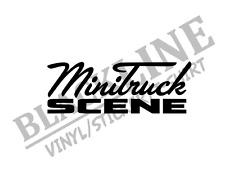minitruck scene 8x3 sticker vinyl decal *WHITE* (Alt. color avail)