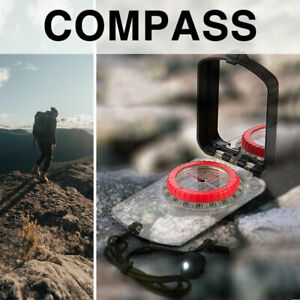 Naturehike Luminous Compass With Mirror LED Light Camping Hiking Outdoor Survive