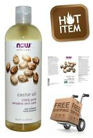 NOW Castor Oil Nourishing Non-GMO Paraben Free Vegan Versatile Skin Care 16 oz