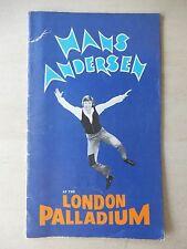 July 22nd, 1975 - London Palladium Theatre Playbill w/Ticket - Hans Andersen
