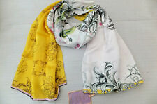 TED BAKER Anika Passion Flower Long Mulberry Silk Scarf in Yellow BNWT RRP £70