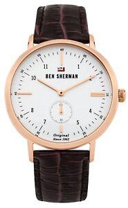 Ben Sherman Men's Brown Strap Watch WBS102TRG