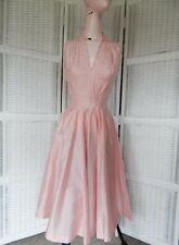 Vintage 1950s GIGI YOUNG ORIGINALS Pink Cocktail Dress w Rhinestones 8