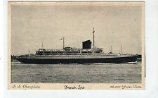 S.S. CHAMPLAIN: French Line shipping postcard (C19607)