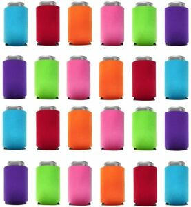 Can Cooler Sleeves Blank Poly Foam Collapsible Beverage Can & Bottle Holders