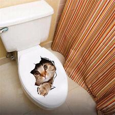 3D cat wall sticker bathroom toilet living room decoration sticker vinyl art
