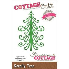 Scrolly Tree Christmas, Steel Craft Cutting Die COTTAGE CUTZ - NEW, CCE-314