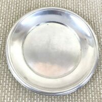 """Art Deco Christofle Serving Tray Round French Service Platter Silver Plated 7"""""""