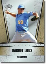 2011 Leaf GOLD Draft BARRET LOUX Rookie Card RANGERS #/200