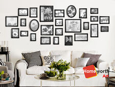 26 pcs photo picture frame wall art collection decor  frames gift present black