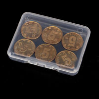 5x Plastic Transparent With Lid Storage Box Collection Container Case Part FO