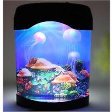 LED Artificial Jellyfish Aquarium Lighting Fish Tank Night Light Lamp
