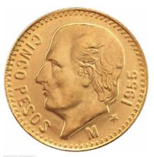5 Pesos Gold AV:  Mexiko Centenario Hidalgo, Jg.1955, Startpreis 1€