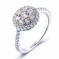 SSOJ16 .925 Sterling Silver CZ Gem Prong Set Engagement Bridal Ring Size 5,6,7,8