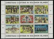 SOLOMON ISLANDS 1983 Mint Sheet Stamps - Traditional Christmas Dance