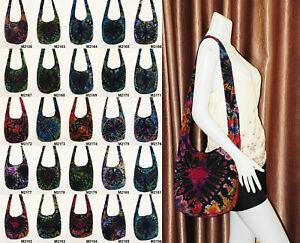 SALE Thai Hippie Tie Dye Hobo Sling Shoulder Crossbody Bag Purse Cotton Boho