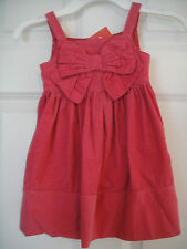 Gymboree NWT CLASSROOM KITTY Pink Bow Dress Jumper Corduroy 12 18