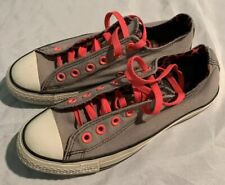 Converse All star Ox Gray and Neon Pink Animal Print Shoes Women's 8