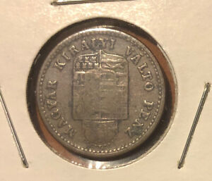 HUNGARY 1886 KB 1 Krajczar Collectible Copper Coin~19mm-KM#458