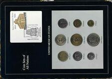 Coin Sets of All Nations Mexico 1985-1990 UNC 10,20,500,1000,5000 Peso 1988