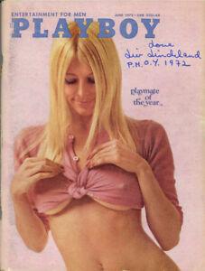 LIV LINDELAND SIGNED FULL 1972 PLAYBOY MAGAZINE + PMOY 1972 RARE BECKETT BAS