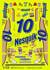 #10 Scott Riggs Nesquik Ford Taurus 1/32nd Scale Slot Car Waterslide Decals